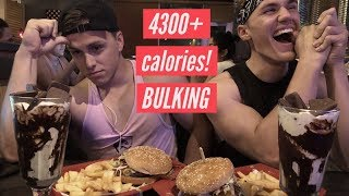 IIFYM FULL DAY OF EATING ON A BULK | +GHOST GIVEAWAY