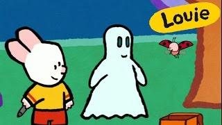 Fantasma - Louie dibujame un fantasma | Dibujos animados para niños