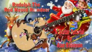 Rudolph The Red Nosed Reindeer - Acoustic Guitar Lesson (easy-ish)