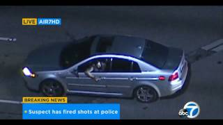 Police Chase   Los Angeles CA - 9th of January 2017