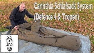 """Schlafsack-System: """"Tropen + Defence 4"""" von Carinthia"""
