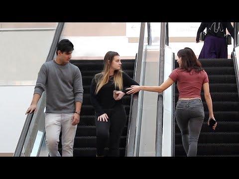 HAND TOUCHING ON ESCALATOR PRANK