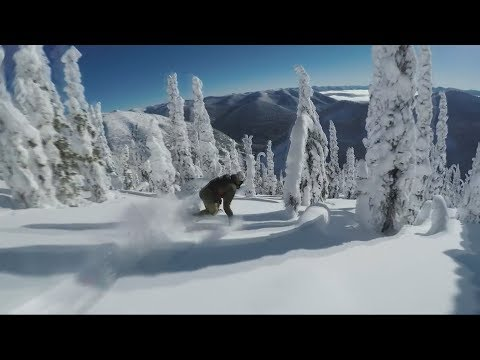 Snowboard  Freeride in the fairy forest