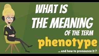 What is PHENOTYPE? What does PHENOTYPE mean? PHENOTYPE meaning, definition & explanation