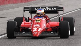 1984 Ferrari 126 C4 F1 Turbo V6 in Action - OnBoard, Turbo Sounds, Accelerations & Fly Bys!