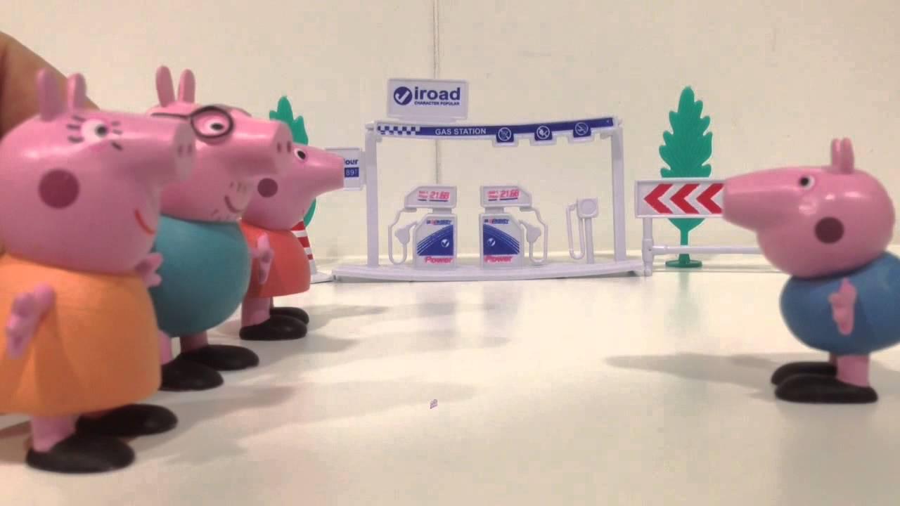 Peppa Pig y su familia en la gasolinera de los deseos
