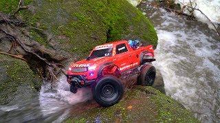 Red Traxxas TRX 4 Sport   RC Water Run