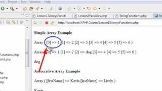 PHP Programming 13 Array Functions 1