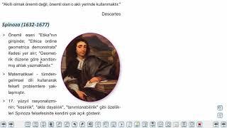 Eğitim Vadisi 11.Sınıf Felsefe 7.Föy 17.Yüzyıl Felsefesi Konu Anlatım Videoları