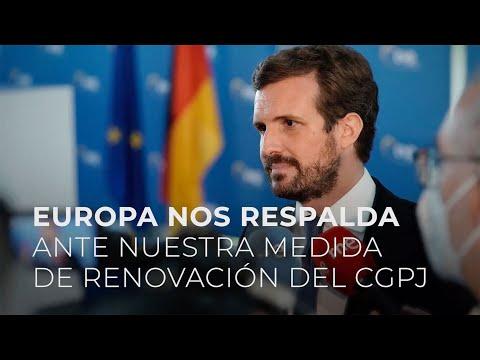 Europa nos respalda ante nuestra medida de renovación del CGPJ