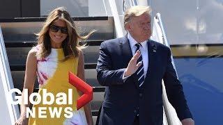 Trump, Melania arrive in Biarritz, France for G7 summit