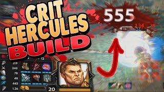 Smite: Hercules Crit Build - The Ra THAT DESTROYED THEIR WHOLE TEAM!