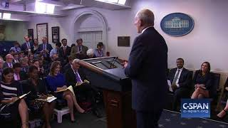 """White House Chief of Staff John Kelly: """"I'm not quitting today."""" (C-SPAN) 