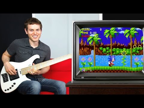Sonic The Hedgehog played on Bass (Theme and Sound FX)