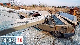 Что если припарковать АВТО под БЕТОННЫМ СТОЛБОМ?