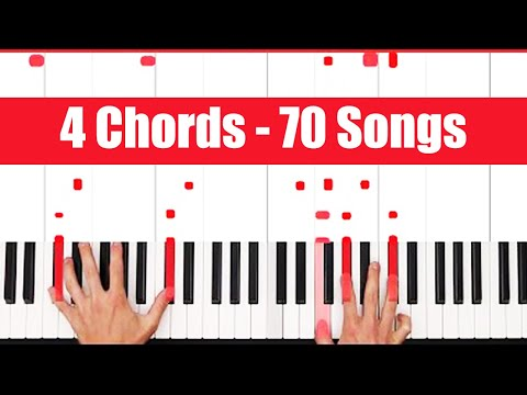 Four Chords Piano: Play 70 Songs in 6 Minutes Using The Same Chords!!