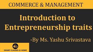Entrepreneurship traits   Yashu Srivastava