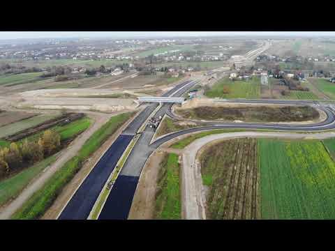 Planowana droga S19 odc. 3 obwodnica m. Kraśnik - widok lotniczy - listopad 2020 r.