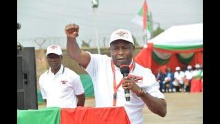 Général Evariste Ndayishimiye niwe azoserukira Umugambwe CNDD FDD mu matora y'Umukuru w'igihugu