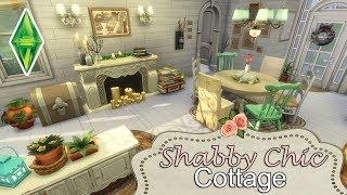 Sims 4 - Shabby Chic Cottage - Furnishing Kalaidasims Speed Build - NoCC