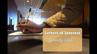Sorority Letters of Interest | Sorority Intake Advice | KelsTells