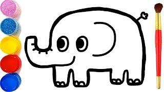 How To Draw Baby Elephant Art Education For Children 어린이 그림 배우기 미술교육 동물 코끼리 그리기 영어 배우기! 알파벳송 인기
