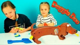 Собака Ду и ее какашки Игры для детей Распаковка Doggie Doo Game for children Розыгрыш. Для детей.