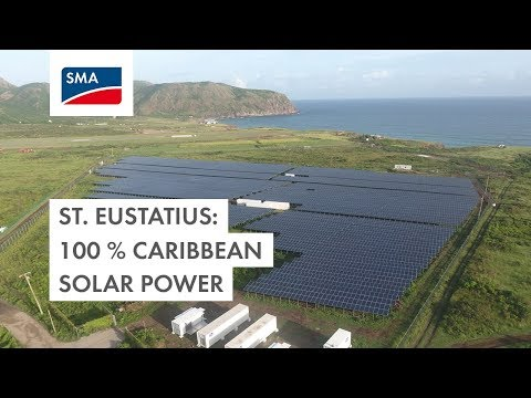 Caribbean Island St. Eustatius becomes 100% Solar Powered