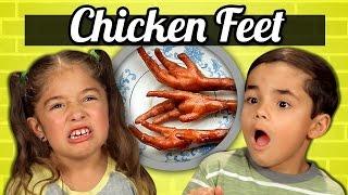KIDS vs. FOOD - CHICKEN FEET - dooclip.me