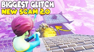 BIGGEST PYRAMID SCAM EVER GLITCHED! 😱 (Scammer Gets Scammed) Fortnite Save The World