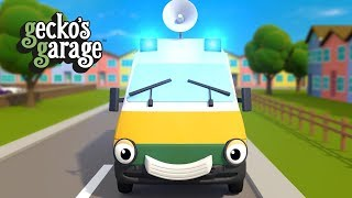 The Ambulance Song And More Ambulance Cartoons For Children | Gecko's Garage