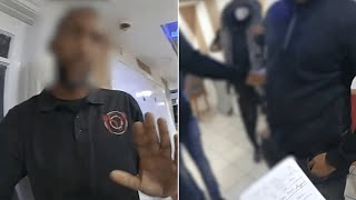 video: Watch: Police stop Covid rule-breakers hiding in restaurant basement to play dominoes
