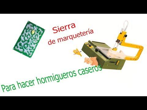Sierra de marquetería (Proxxon) Para hacer hormigueros caseros.