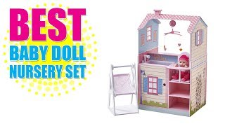 Best Baby Doll Nursery Set - Teamson Kids - All in One 18 inch Baby Doll Nursery Station with Swing