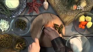 Новогодний салат с картофелем и индейкой