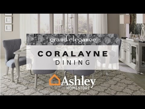 Silver Coralayne Dining Room Table View 4 Video
