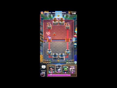 batalhando no Clash Royale em batalha de duplas