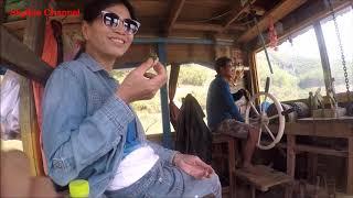 ตะลุยลาวเหนือ EP44:ล่องน้ำโขงจากท่าเรือสบหลวยฝั่งพม่าไปเชียงกก ชมสะพานมิตรภาพ Laos-Burma