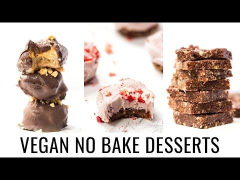 Video EASY VEGAN NO BAKE DESSERTS | 3 healthy recipes