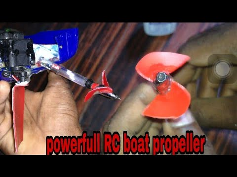 Powerfull Rc boat propeller | How to make a rc boat propeller