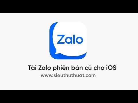 Tải Zalo phiên bản cũ cho iOS - Cách cài đặt Zalo phiên bản cũ cho iPhone