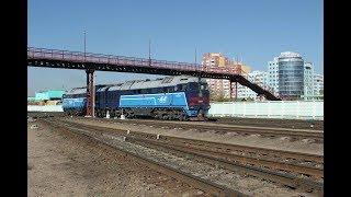 EMN074785 Mongolia giant diesel locomotive Монгол зүтгүүр тепловоз локомотив المنغولية قاطرة ديزل