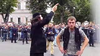 Митинг мусульман у посольства Мьянмы в Москве гитлер 2017