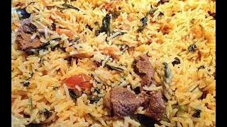Beef Biryani/ BAKRA EID SPECIAL/ Spicy Beef Biryani recipe by ( Cooking With Hadiqa )