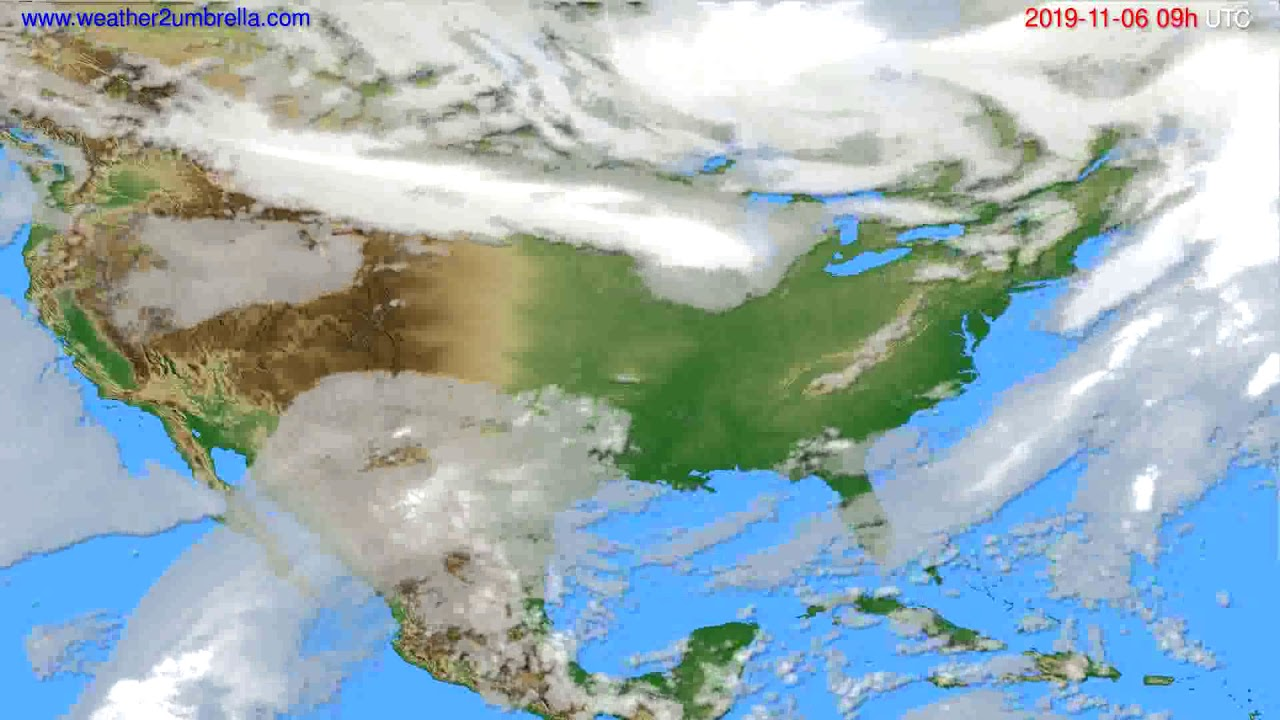 Cloud forecast USA & Canada // modelrun: 12h UTC 2019-11-04