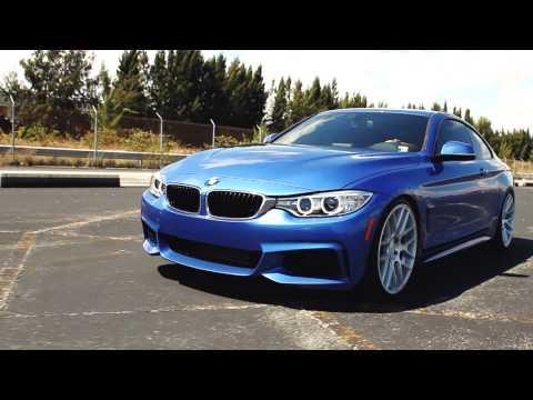 BMW F32 M SPORT ON VELGEN WHEELS VMB7 20X9 & 20X10.5