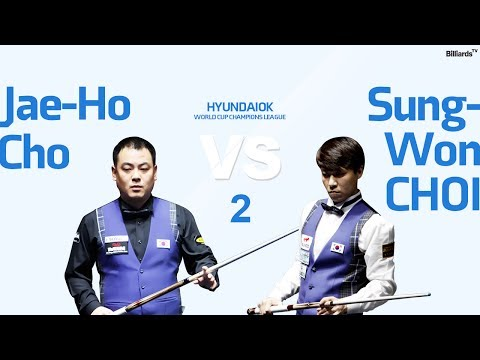 [당구-Billiard] 3 Cushion_Jae-Ho Cho v Sung-Won Choi_World Cup Champions League_Full_2