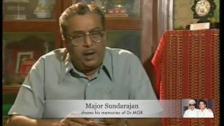 #MGR 100 - Major Sunderajan shares his memories with Dr.MGR