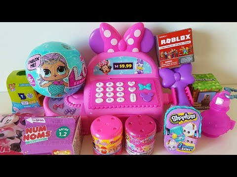 Minnie Mouse toy shopping cart cash register LOL Minecraft Roblox MLP Shopkins Shimmer & Shine