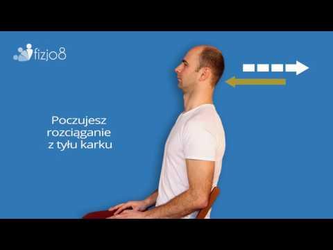 Ból mięśni szyi poprzez obracanie i przechylanie głowy